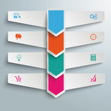 4 Step Arrows Double Banners Stock Photography