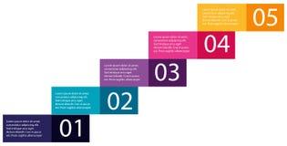 Step of ascending infographics. Illustration Stock Photo