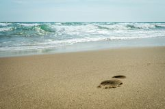Step on the beach of the Black Sea Stock Photos