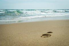 Step on the beach of the Black Sea stock photos