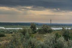 Step blisko Dnipro rzeki Zdjęcia Royalty Free