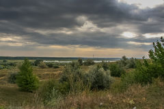 Step blisko Dnipro rzeki blisko miasta Kremenchug wewnątrz Zdjęcia Stock