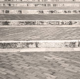 step   brick in  italy old wall and texture material the backgro Royalty Free Stock Photos