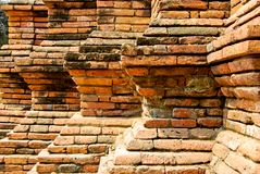 Step of the brick wall decoration Stock Images