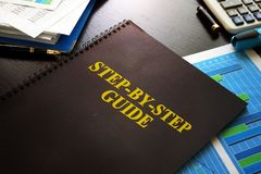 Free Step-by-Step Guide On A Desk. Royalty Free Stock Images - 105453899