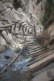 Step byggde i klippa Royaltyfri Bild