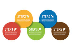 Step Circle. Vector illustration eps 10 Stock Photography