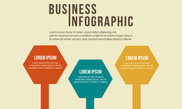 Step data concept business Infographic. Vector illustration Stock Image