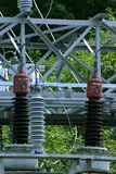 Step Down Transformers. Transformers used to lower voltage royalty free stock photos