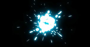 5 Step Explosion Electric Cartoon Animation 07