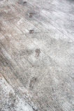 the step footprint of man on the concrete rough floor or ground Stock Images
