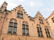 Step-gabled roofs in Bruges Stock Photo