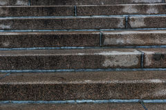 Step granite staircase. After rain Stock Images
