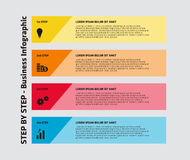 4 Step Infographic Stock Photography