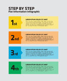 4 Step Infographic Stock Photos