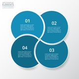 Vector infographic template. Step by step infographic. Template with 4 circles can be used for workflow layout, diagram, chart, number options, web design Stock Photography
