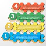 Step Infographics, color template vector for. Business design Royalty Free Stock Photography