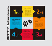 4 step infographics Stock Images