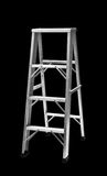 Step ladder. Isolated on black Stock Photography