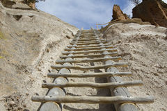 Step ladder. Hand made step ladder at Bandelier National Monument Royalty Free Stock Photography