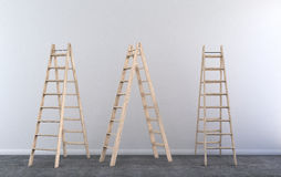 Step ladder in empty room. In reconstruction Royalty Free Stock Photo