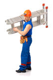 With step-ladder on the hand Stock Image