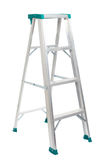 Step ladder isolated on white background. Aluminum step ladder isolated on white background Stock Images