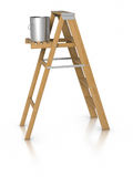 Step ladder and paint bucket Royalty Free Stock Image