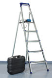 Step-ladder and a tool box Royalty Free Stock Photos