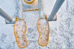 Step Machine In Winter Stock Photos