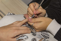 Step of manicure process Royalty Free Stock Photography