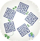 Step maze Stock Images