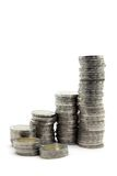 Step of money coins Royalty Free Stock Photos