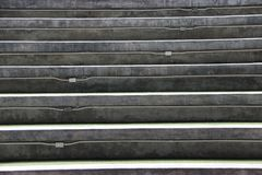 Step of mortar staircase or amphitheater seat. royalty free stock photos