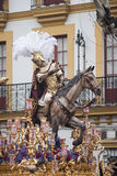 Step mystery of the brotherhood of hope of Triana, Easter in Seville Royalty Free Stock Images