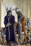 Step mystery of San Gonzalo by the Triana Bridge, Seville Easter Royalty Free Stock Photos