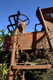 Step of an old combine Royalty Free Stock Photo