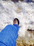 Step onto the snow Royalty Free Stock Photos