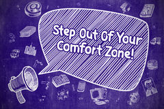 Step Out Of Your Comfort Zone - Business Concept. Royalty Free Stock Photos