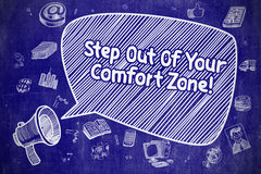 Step Out Of Your Comfort Zone - Business Concept. Stock Images
