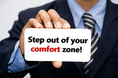Step Out of Your Comfort Zone Card Royalty Free Stock Photography