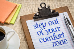 Step out of your comfort zone Royalty Free Stock Photography