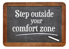 Step outside your comfort zone Royalty Free Stock Photography