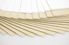 Step paper of report and brown envelope on top Royalty Free Stock Photo