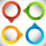 4-step présentation circulaire, élément d'infographics Progr cyclique illustration stock