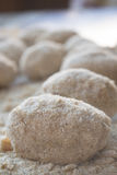 Step of preparation of  rice balls Royalty Free Stock Photo