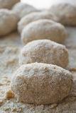 Step of preparation of  rice balls Royalty Free Stock Image