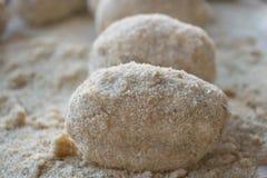 Step of preparation of sicilian rice balls Stock Photos
