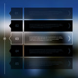 Step progress options banners on defocused background Stock Images