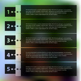 Step progress options banners on defocused Royalty Free Stock Photography